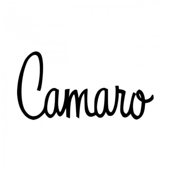 Classic Chevy Camaro Script...