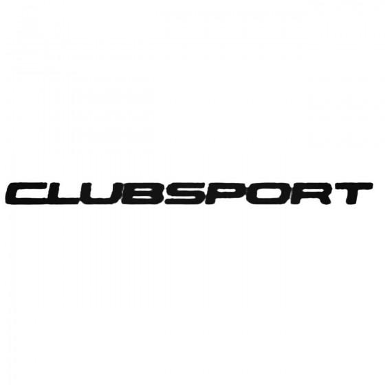 Clubsport Decal Sticker