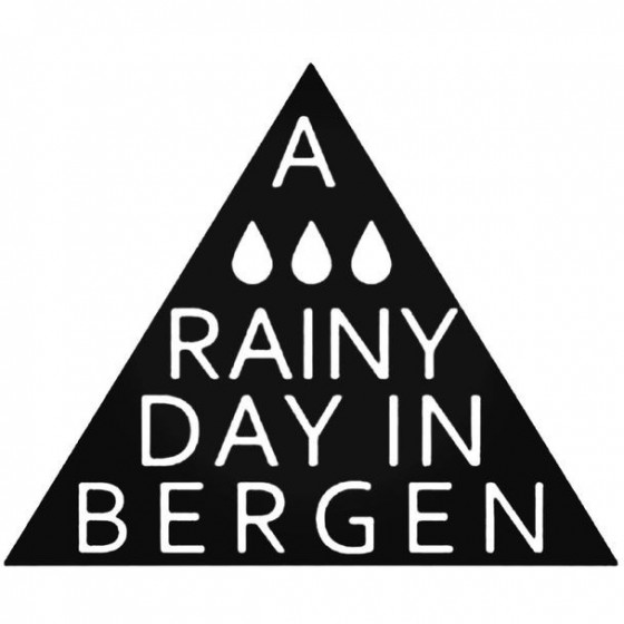 A Rainy Day In Bergen Decal...