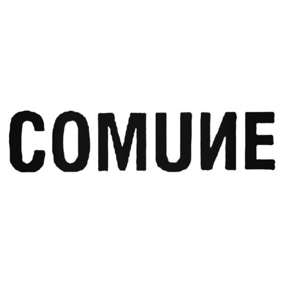Comune Text Decal Sticker