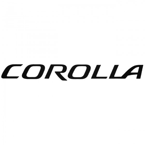 Corolla Graphic Decal Sticker
