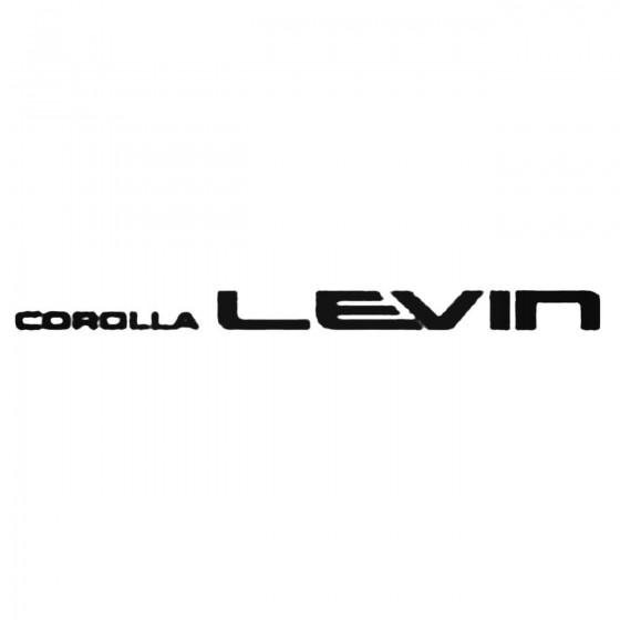 Corolla Levin Decal Sticker