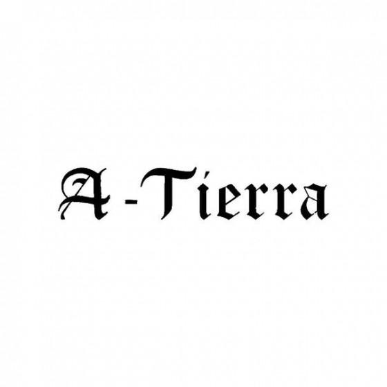 A Tierra Band Logo Vinyl Decal