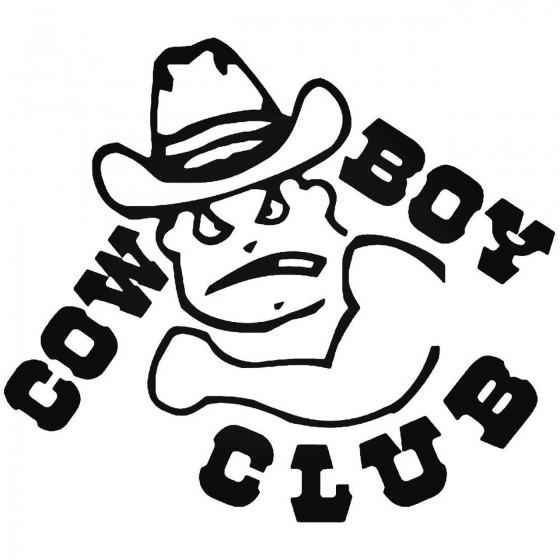 Cowboy Club Bad Boy Sticker