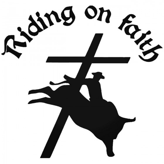 Cowboy Faith Sticker