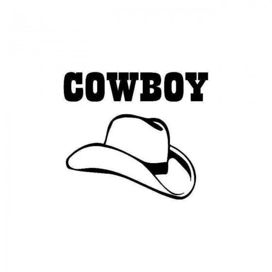 Cowboy Hat 1 Sticker