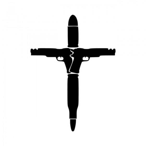 Cross Crucifix Guns Bullets...