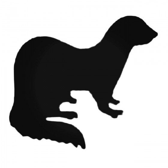 Curious Ferret Decal Sticker
