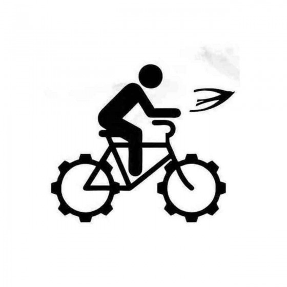 Cyclist And Favorable Bird...