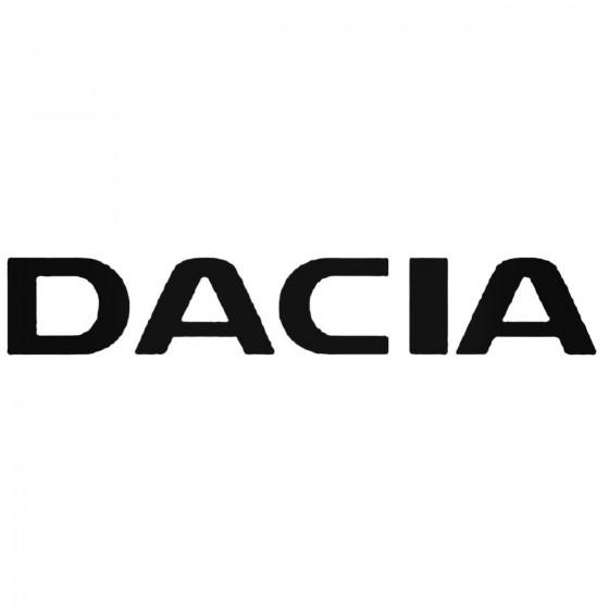 Dacia The Name Decal Sticker