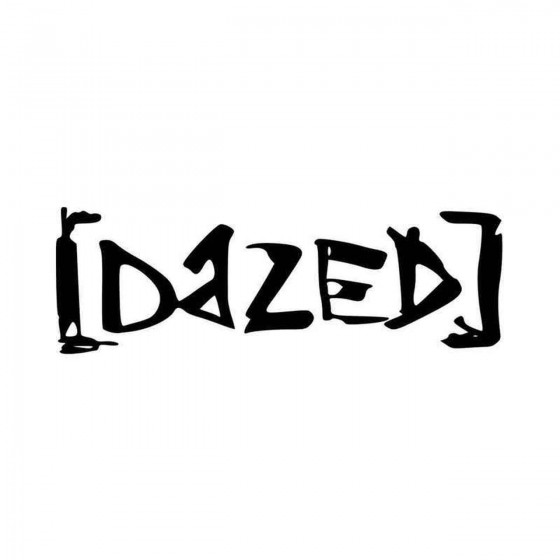 Dazed Band Logo Vinyl Decal...