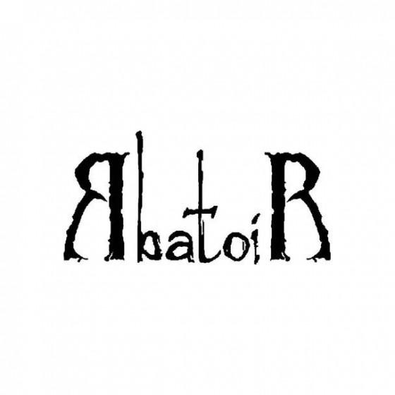 Abathor Band Logo Vinyl Decal