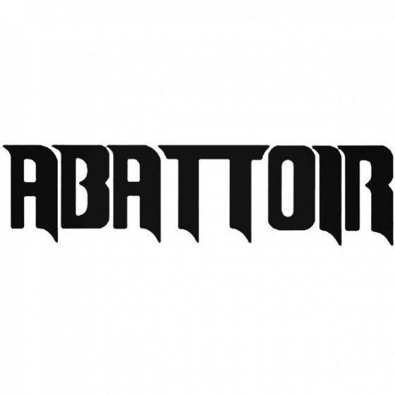 Abattoir Decal Sticker