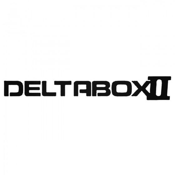 Deltabox Ii Decal Sticker