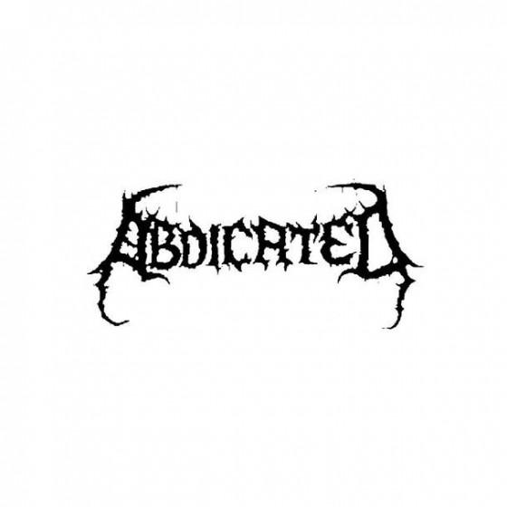 Abdicated Band Logo Vinyl...