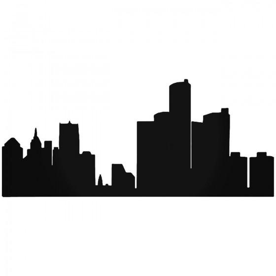 Detroit Skyline 3 Sticker