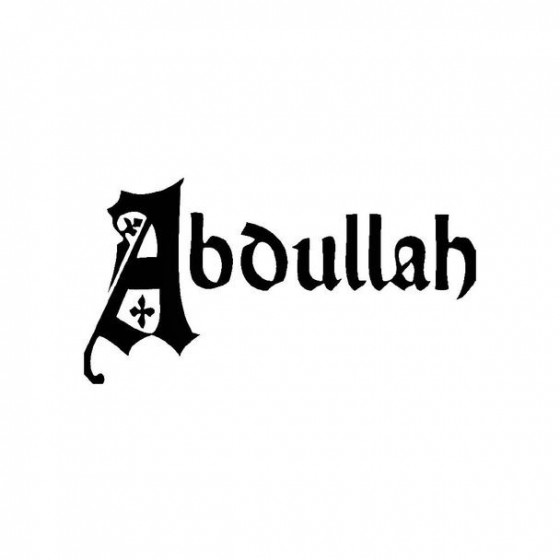Abdullah Band Logo Vinyl Decal