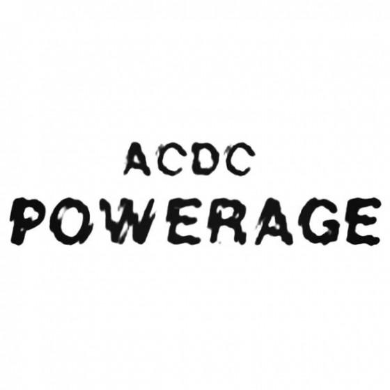 Ac Dc Powerage Decal Sticker