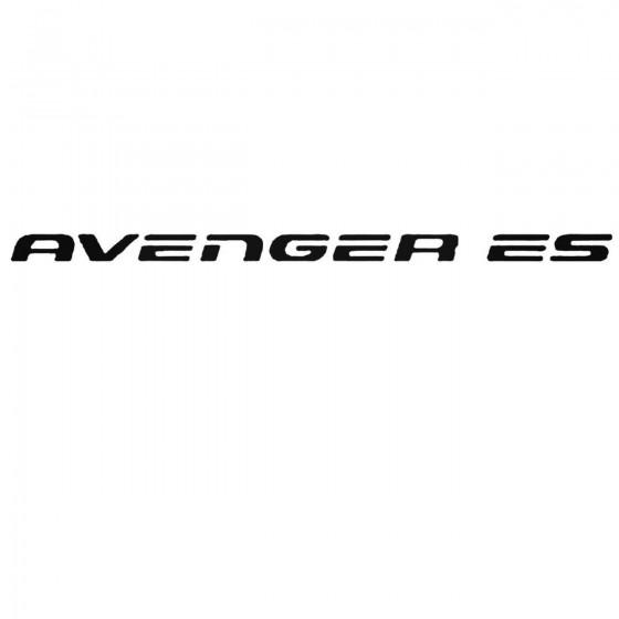 Dodge Avenger Es Set Decal...