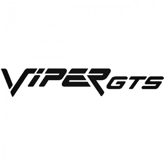 Dodge Viper Gts Sticker