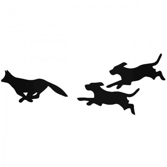 Dogs Chasing Fox Hunting...