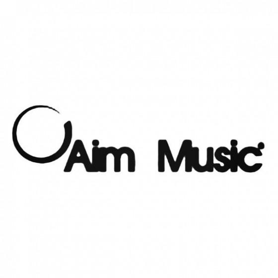 Aim 4 Music Decal Sticker
