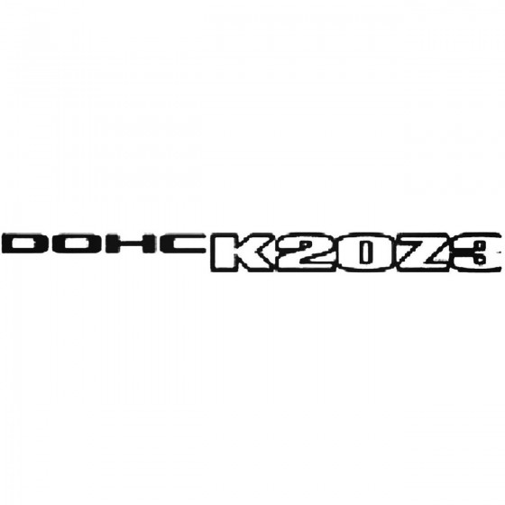 Dohc K20z3 Side Panel S Decal