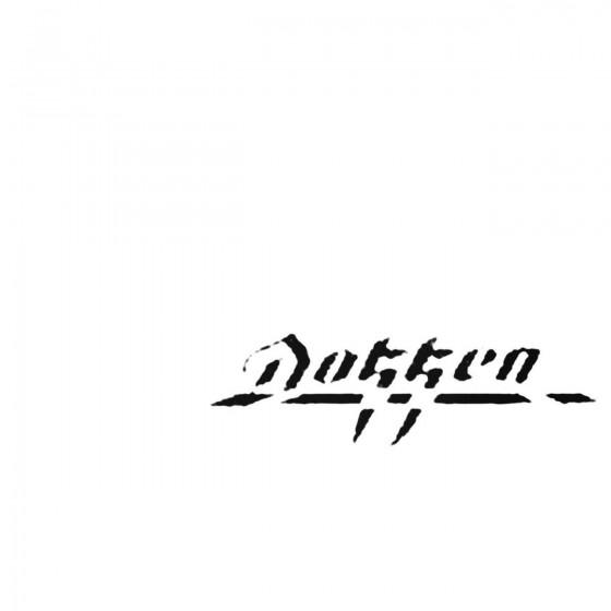 Dokken Decal Sticker