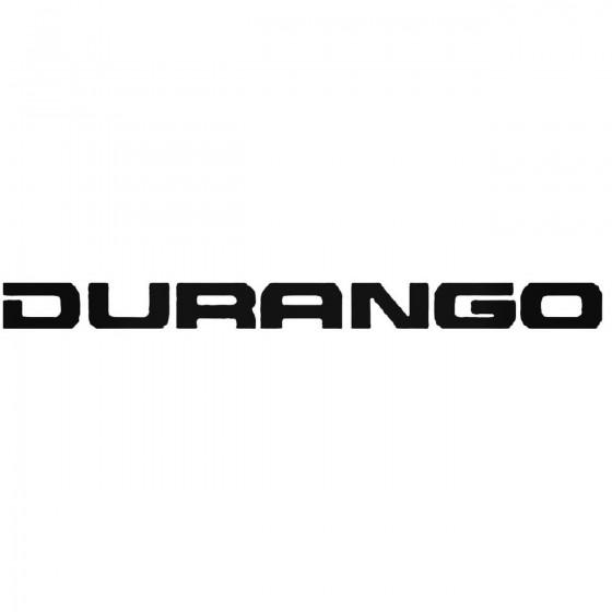 Durango Vinyl Decal
