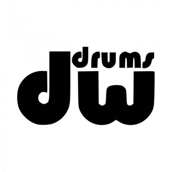 Dw Drums Logo Graphic Vinyl...