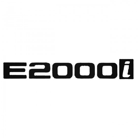 E2000i Decal Sticker
