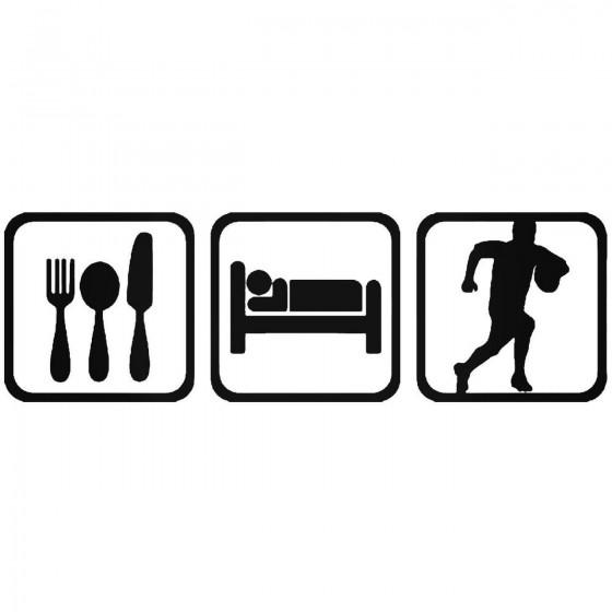 Eat Sleep Rugby Sport Sticker