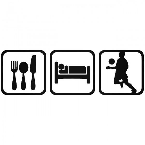 Eat Sleep Soccer Men Sticker