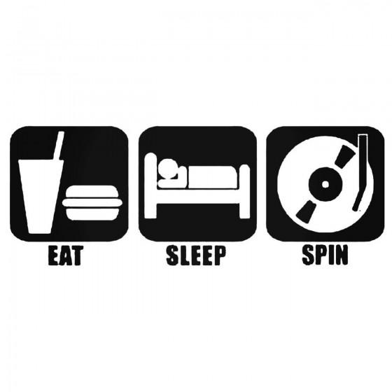 Eat Sleep Spin Decal Sticker