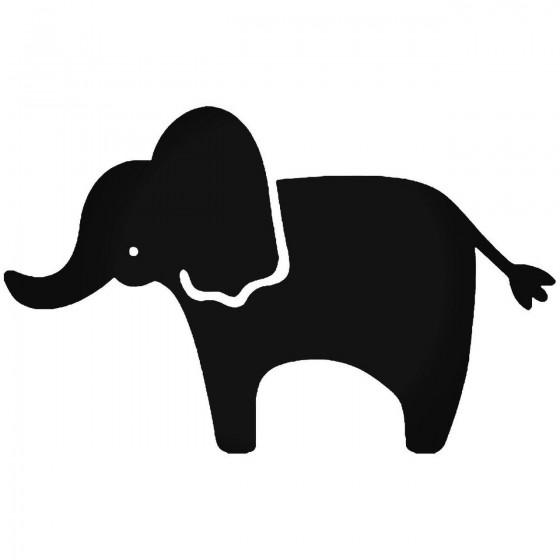 E Elephant Sticker