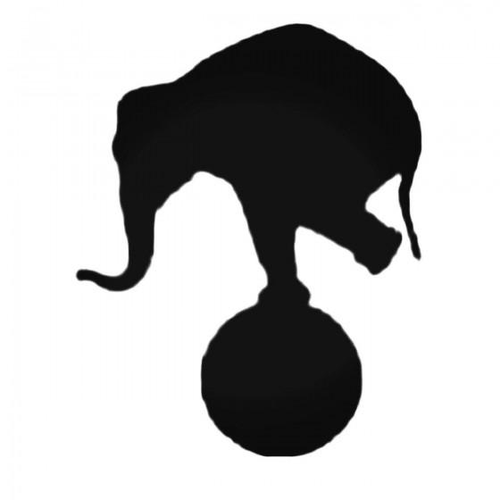 Elephant On A Ball Decal...