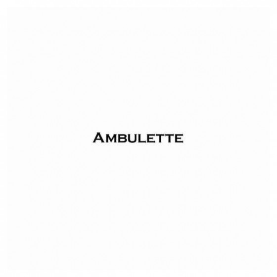 Ambulette Band Decal Sticker