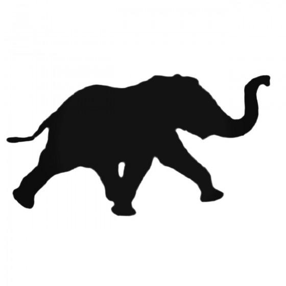 Elephant Running Decal Sticker