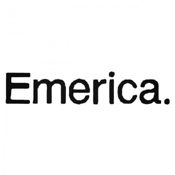 Emerica Text Decal Sticker