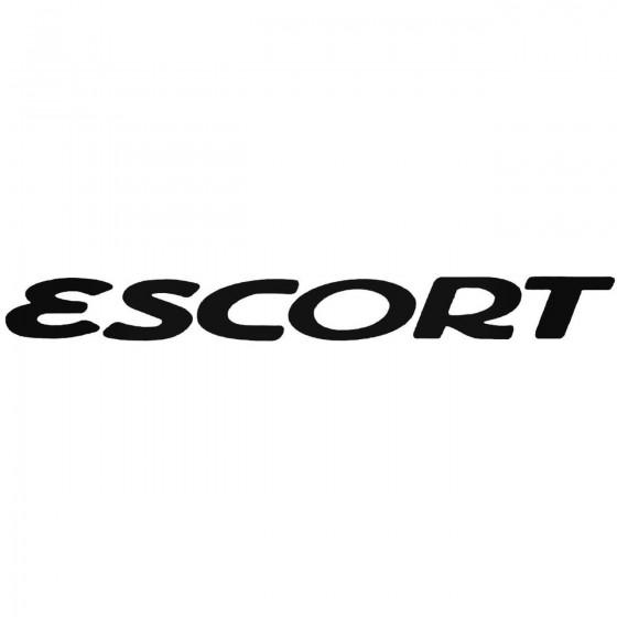 Escort Graphic Decal Sticker