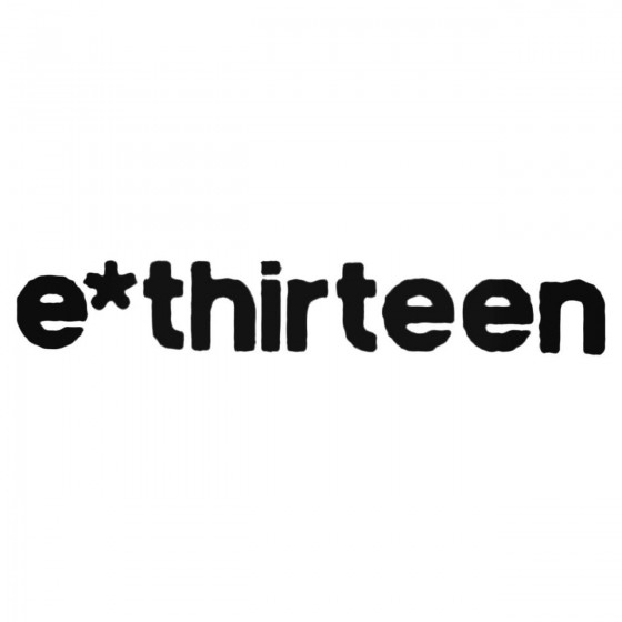 E Thirteen Text Decal Sticker