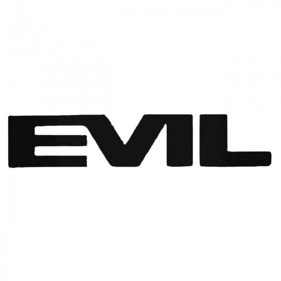 Evil Bikes Text Decal Sticker