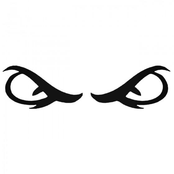 Evil Eyes Jdm Decal Sticker