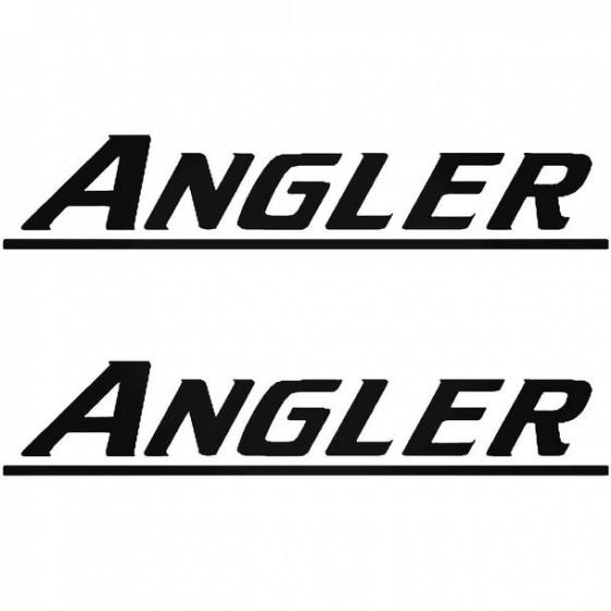 Angler Boat Kit Decal Sticker