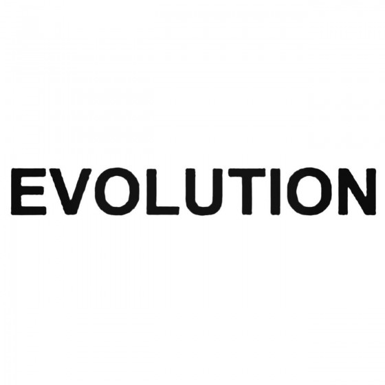 Evolution Decal Sticker