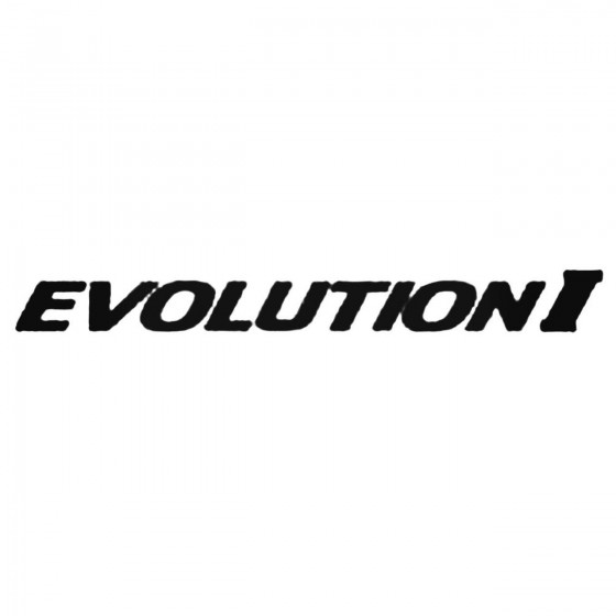 Evolution I Decal Sticker