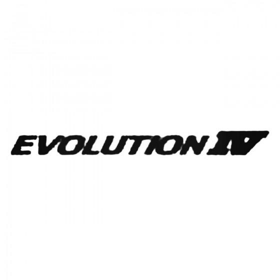 Evolution Iv Decal Sticker