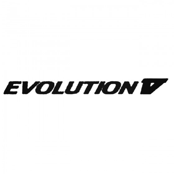 Evolution V Decal Sticker