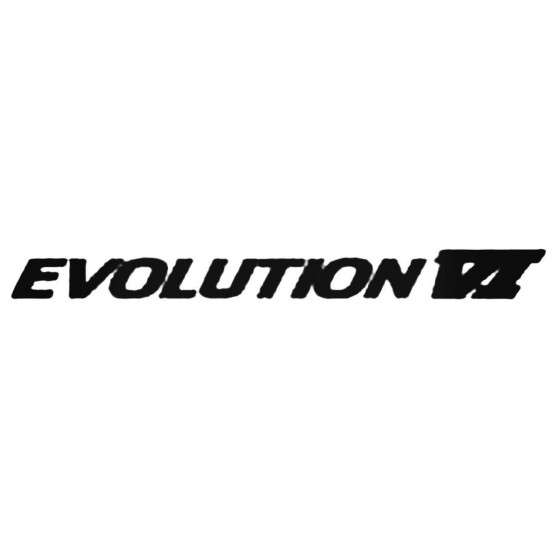 Evolution Vi Decal Sticker