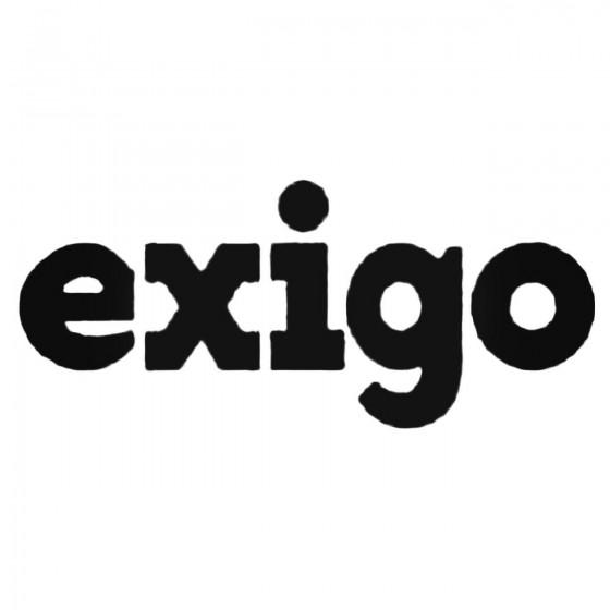 Exigo Decal Sticker